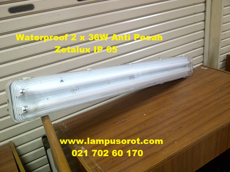 Lampu Waterproof 2 x 36w IP 65 Zetalux ( Anti Pecah )