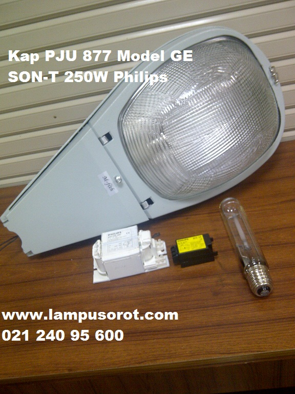 Lampu PJU 877 Model GE + SON-T 250W Philips