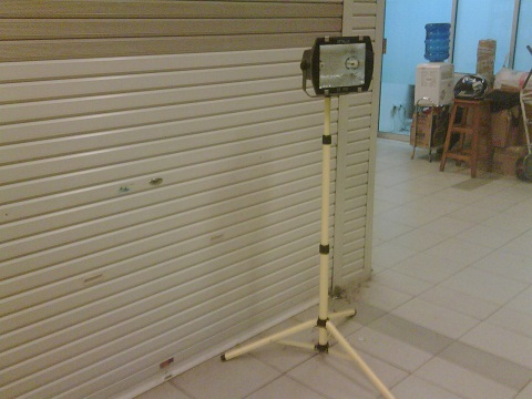 Lampu Sorot MH + Tiang Portable Single