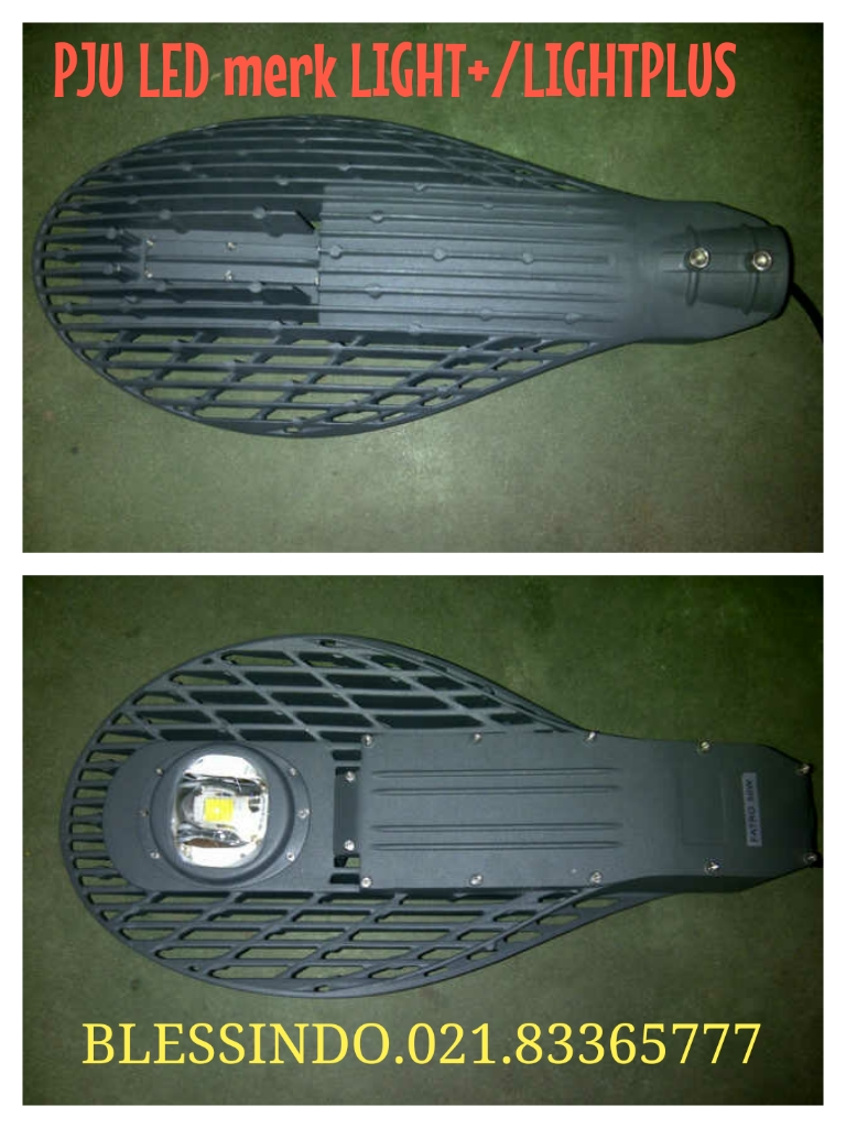 lampu jalan led merk light+ / lightplus