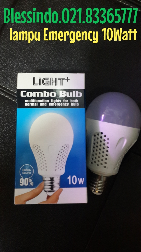 lampu emergency bulb led 10watt
