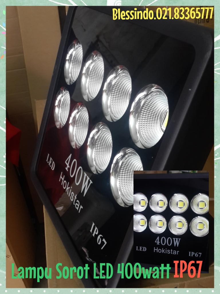Lampu sorot Led 400watt ip67 pengganti hpit 1000watt