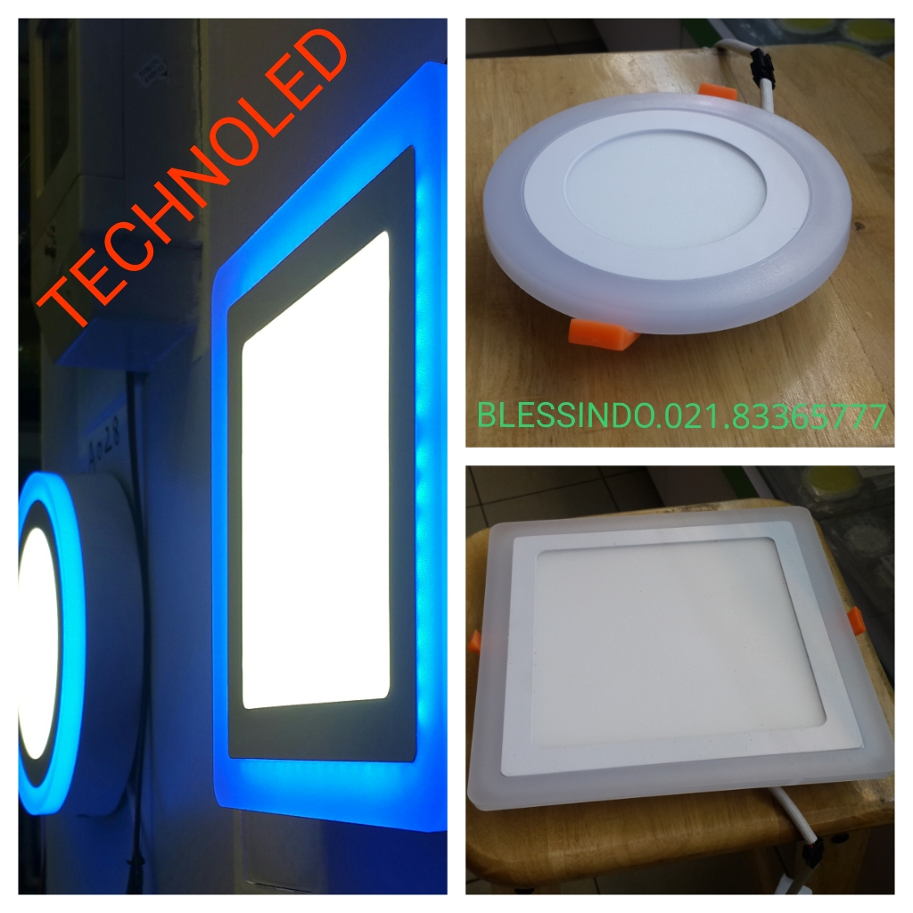 Lampu downlight Led tiga warna