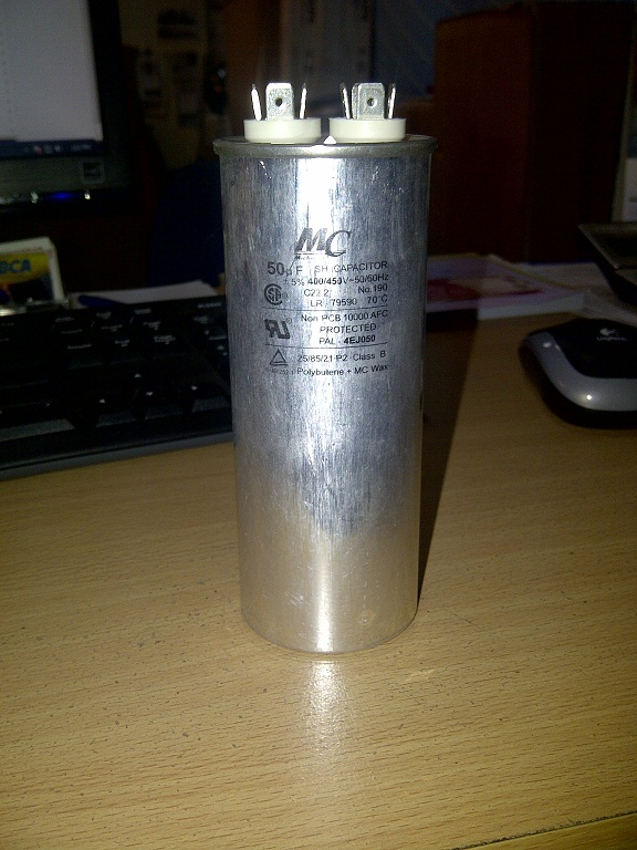Capacitor 50MF 450V MC America