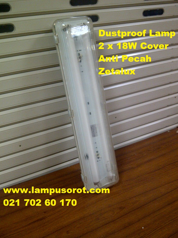 Lampu Waterproof  2 xTLD 18W Zetalux IP 65 anti pecah