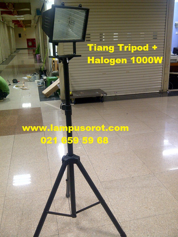 Tiang Portabel + Halogen 1000W Philips