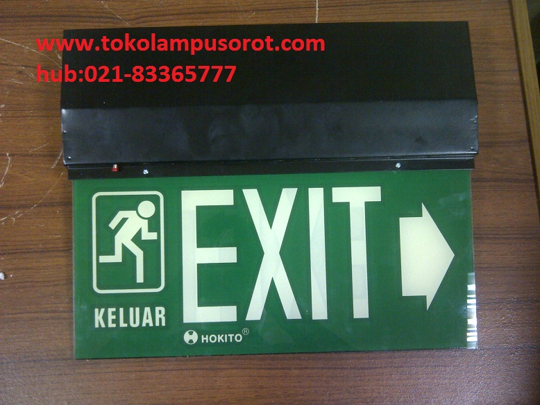 Emergency Exit Lamp merk Hokito