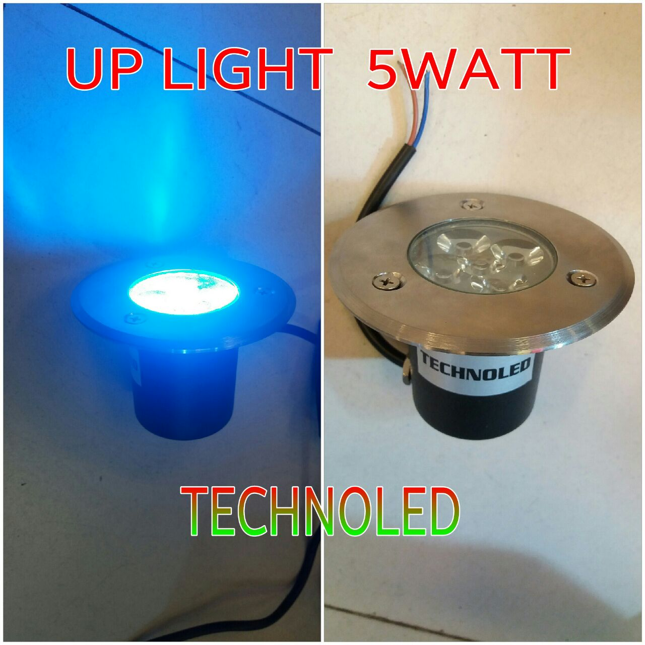 Lampu tanam up light led biru