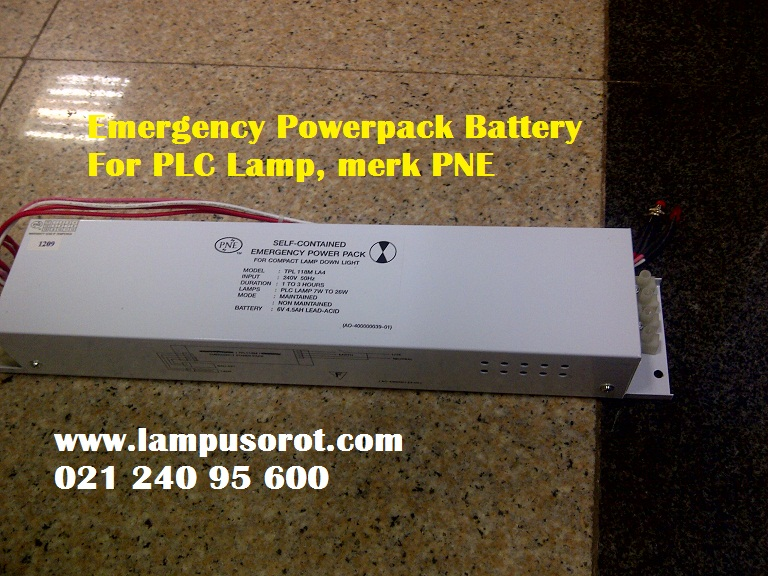 Emergency Powerpack For PLC Lamp merk PNE