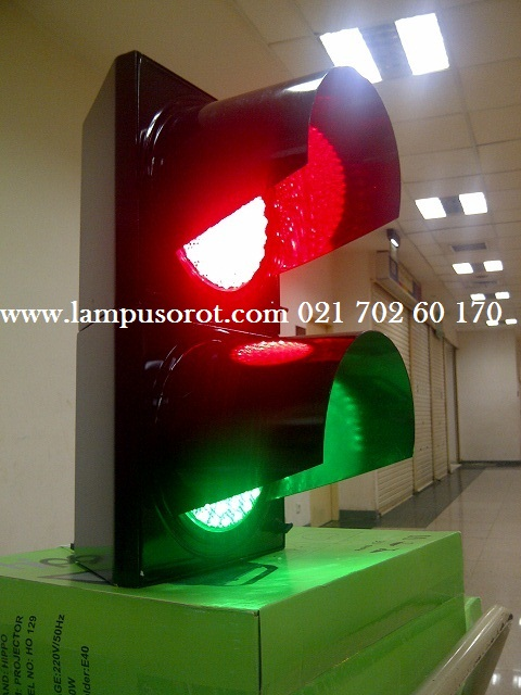 Traffic Light 2Mata Merah Hijau Diameter 20cm