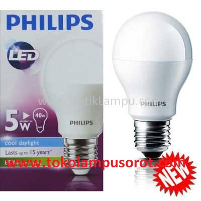 lampu LED philips bulb 5watt,7watt,10watt