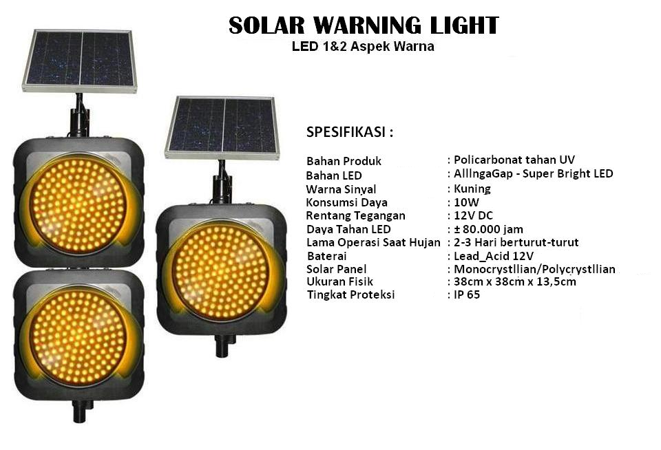 warning light solar panel