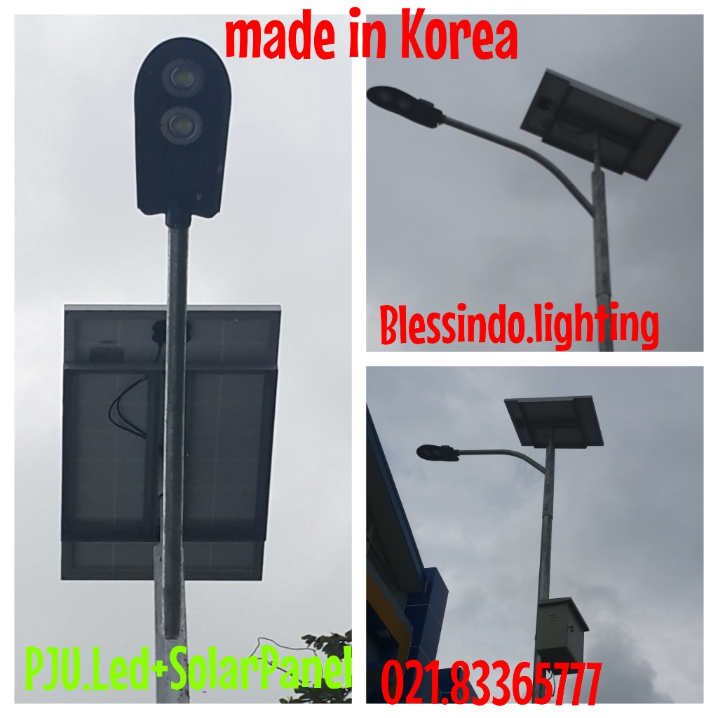lampu jalan atau Pju led plus solar panel made in korea merk Talled